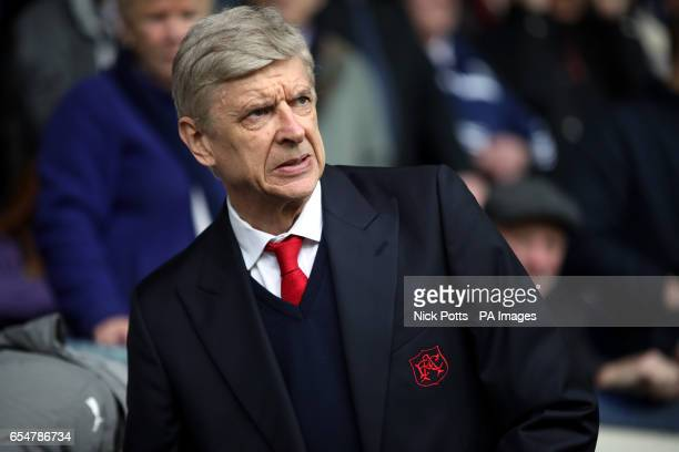 Arsenal manager Arsene Wenger during the Premier League match at The Hawthorns West Bromwich