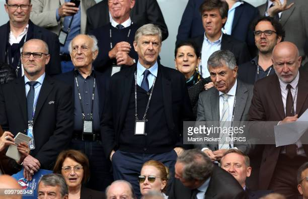 Arsenal manager Arsene Wenger in the stands during the game between Turkey and Croatia