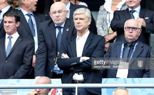 Arsenal manager Arsene Wenger in the stands