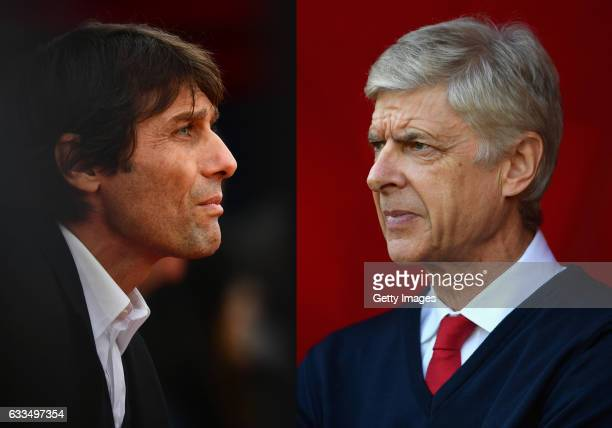 COMPOSITE OF TWO IMAGES Image numbers 630131844 and 619019694 In this composite image a comparision has been made between Antonio Conte Manager of...