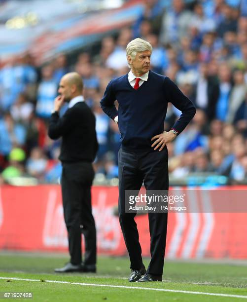 Arsenal manager Arsene Wenger on the touchline during the Emirates FA Cup Semi Final match at Wembley Stadium London