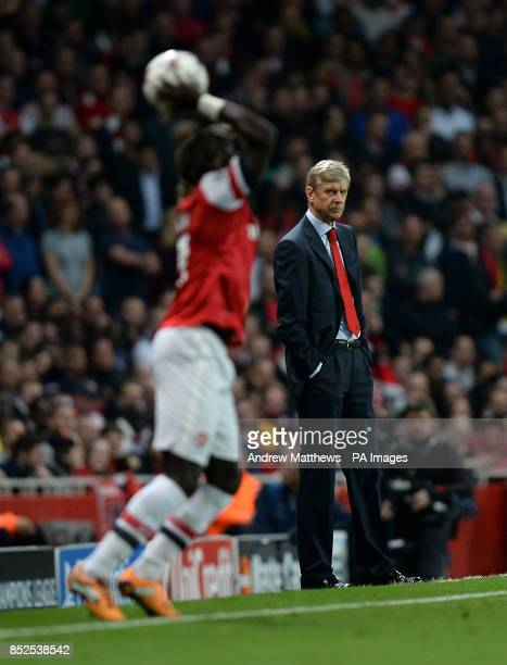 Arsenal manager Arsene Wenger on the touchline during the UEFA Champions League Group F match at the Emirates Stadium London