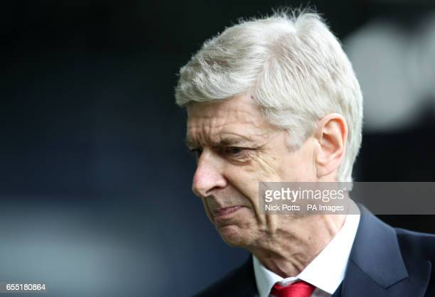 Arsenal manager Arsene Wenger prior to the Premier League match at The Hawthorns West Bromwich