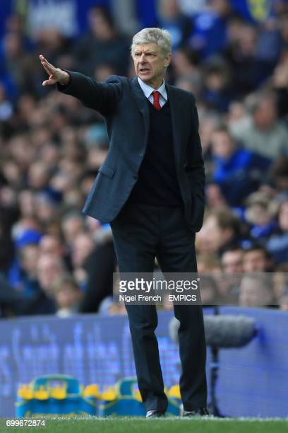 Arsenal manager Arsene Wenger reacts from the touchline