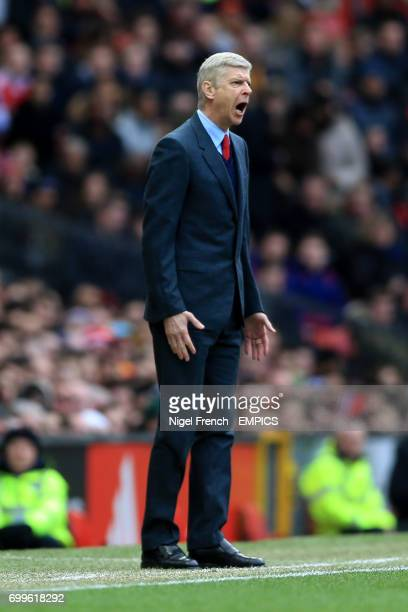 Arsenal manager Arsene Wenger shouts from the touchline