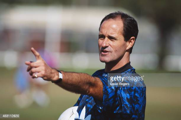 Arsenal manager George Graham makes a point during a training session on July 1 1993 in Durban South Africa