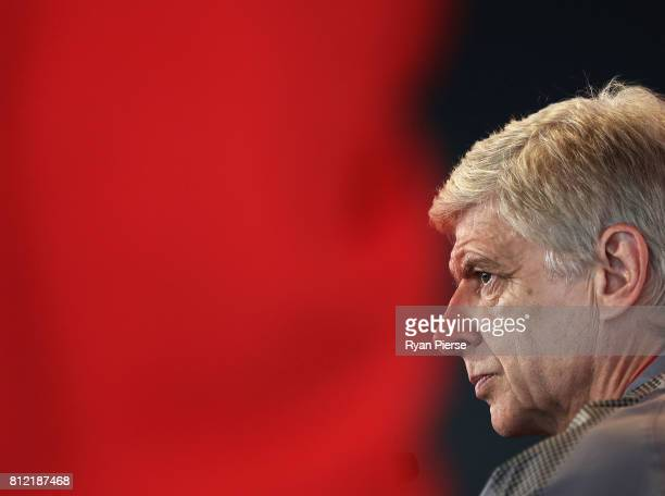 Arsenal Manger Arsene Wenger speaks to the media during an Official Welcome to Sydney for Arsenal FC at Museum of Contemporary Art on July 11 2017 in...