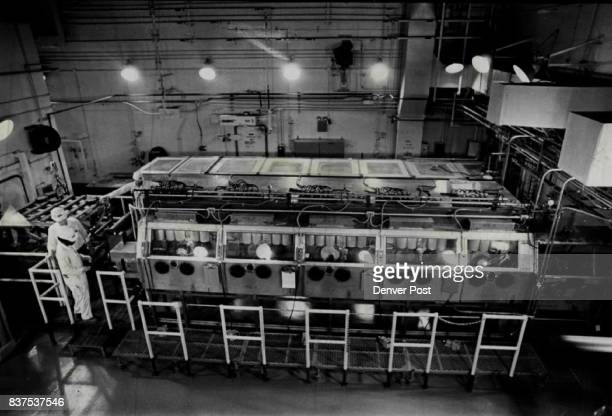 Arsenal Prepares to Detroit 21700 Obsolete Chemical Agent Kits An overall view of the disassembly room in the Rocky Mountain Arsenal's detoxification...