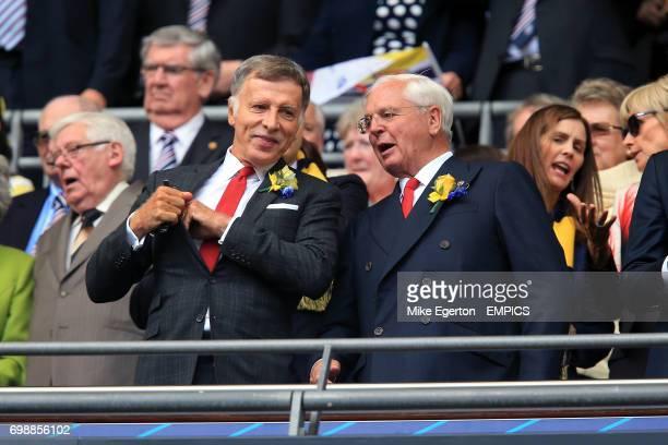 Arsenal shareholder Stan Kroenke with Chairman Chips Keswick