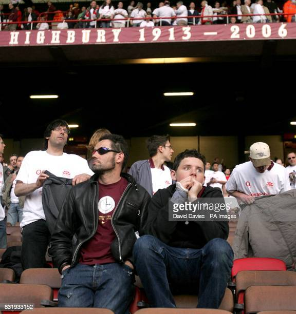 Arsenal supporters reluctant to leave after the last ever match at Highbury