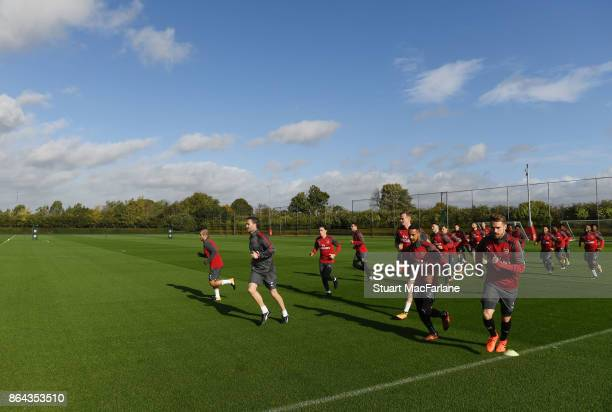 Arsenal training session at London Colney on October 21 2017 in St Albans England
