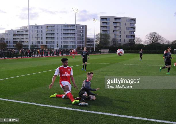 Arsenal U16 v Bayern Munich U16 The Liam Brady Cup at the Arsenal Academy on March 31 2017 in Walthamstow England