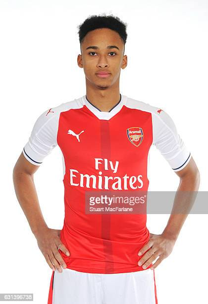 Arsenal unveil new signing Cohen Bramall at the London Colney training ground on January 5 2017 in St Albans England