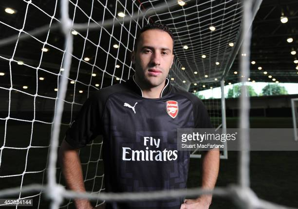 Arsenal unveil new signing David Ospina on July 28 2014 in St Albans England
