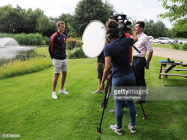 Arsenal unveil new signing Rob Holding at London Colney on July 21 2016 in St Albans England