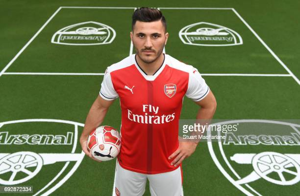 Arsenal Unveil New Signing Sead Kolasinac at London Colney on May 25 2017 in St Albans England