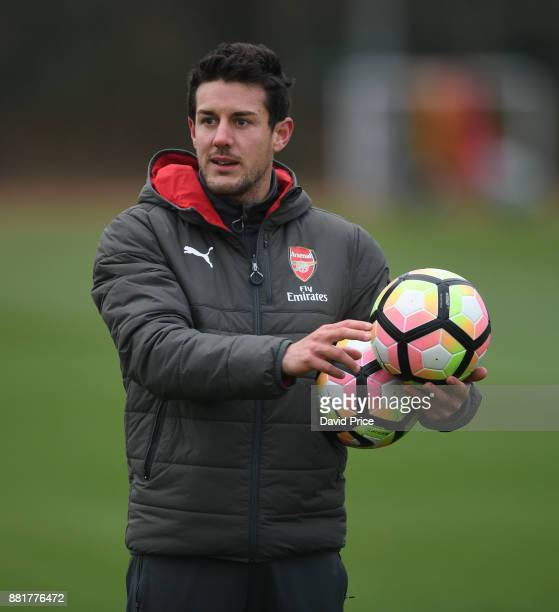 Arsenal Women's Assistant Manager Ismael Gomez during the Arsenal Womens Training Session at London Colney on November 29 2017 in St Albans England