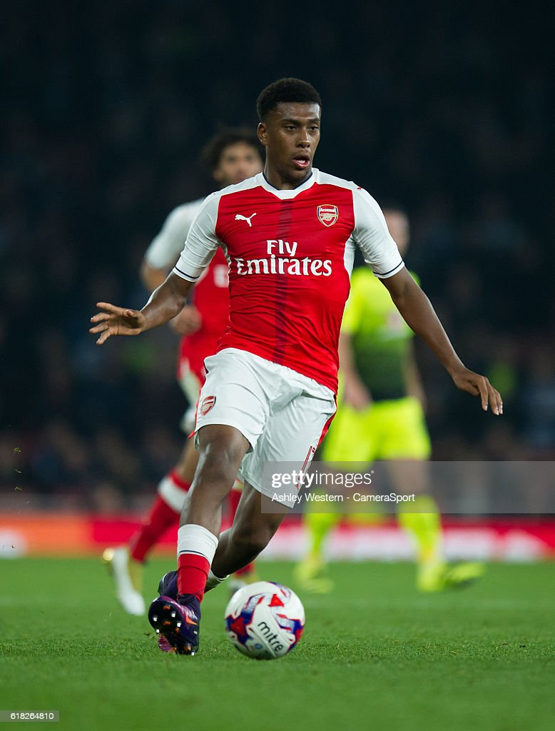 Arsenal's Alex Iwobi during the EFL Cup 4th Round match between Arsenal and Reading at Emirates Stadium on October 25, 2016 in London, England.