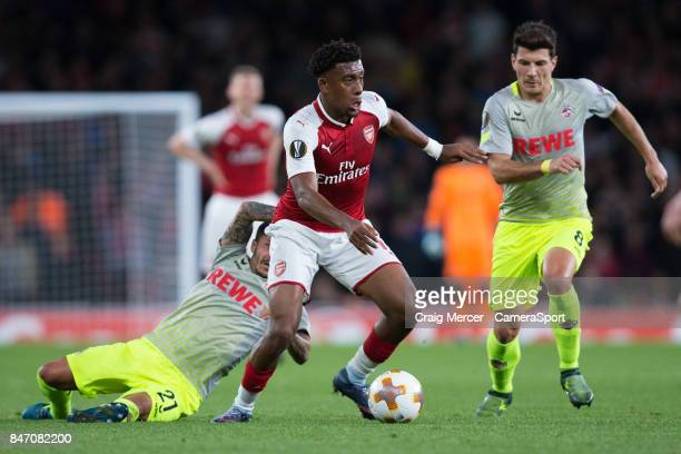 Arsenal's Alex Iwobi in action during the UEFA Europa League group H match between Arsenal FC and 1 FC Koeln at on September 14 2017 in London England