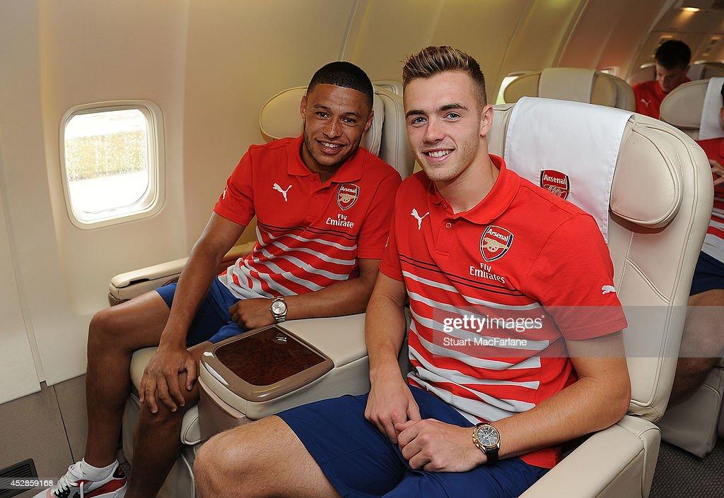 Arsenal Squad Travel to Austria