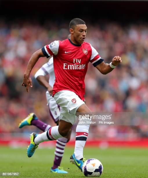 Arsenal's Alex OxladeChamberlain during the Barclays Premier League match the Emirates Stadium London
