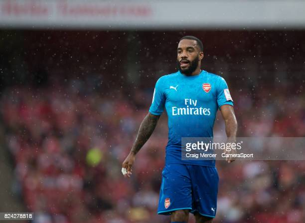 Arsenal's Alexandre Lacazette during the Emirates Cup match between Arsenal and SL Benfica at Emirates Stadium on July 29 2017 in London England