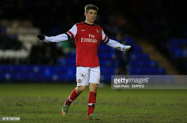 Arsenal's Daniel Crowley during game against Peterborough United