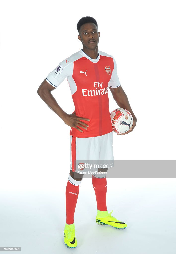 Arsenal's Danny Welbeck at London Colney on September 21, 2016 in St Albans, England.