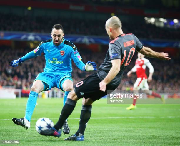 Arsenal's David Ospina during UEFA Champions League Round 16 2nd Leg match between Arsenal and Bayern Munich at The Emirates London 07 Mar 2017