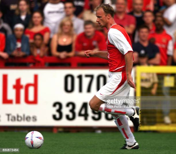 Arsenal's Dennis Bergkamp during preseason friendly at Broadhall Ground Stevenage THIS PICTURE CAN ONLY BE USED WITHIN THE CONTEXT OF AN EDITORIAL...
