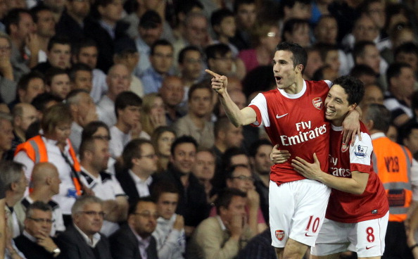 Arsenal's Dutch forward Robin van Persie : News Photo