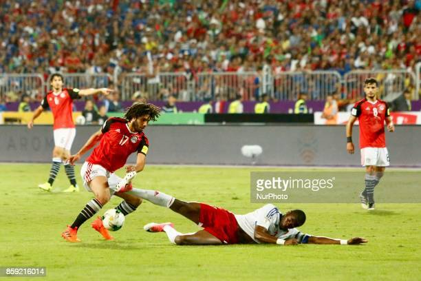 Arsenal's Egyptian midfielder Mohamed Elneny in action during the World Cup 2018 Africa qualifying match between Egypt and Congo at the Borg elArab...