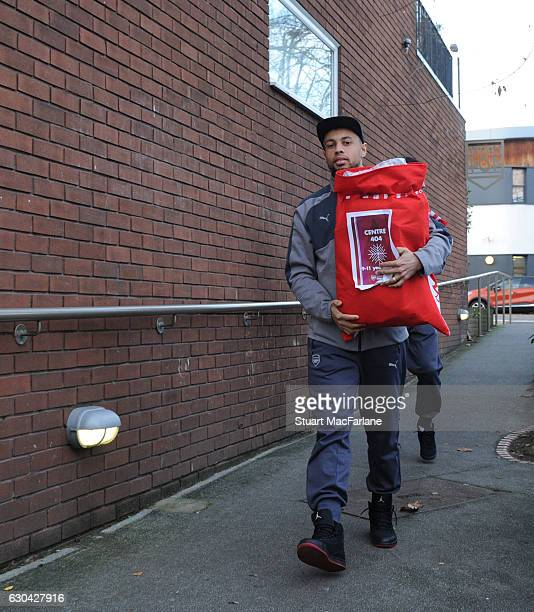 Arsenal's Francis Coquelin during a visit to charity Centre 404 on December 22 2016 in London England