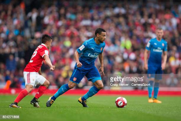 Arsenal's Francis Coquelin in action during the Emirates Cup match between Arsenal and SL Benfica at Emirates Stadium on July 29 2017 in London...