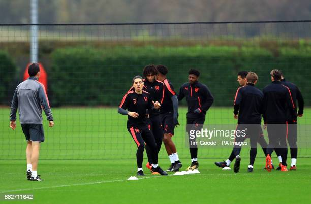 Arsenal's Hector Bellerin during the training session at London Colney London