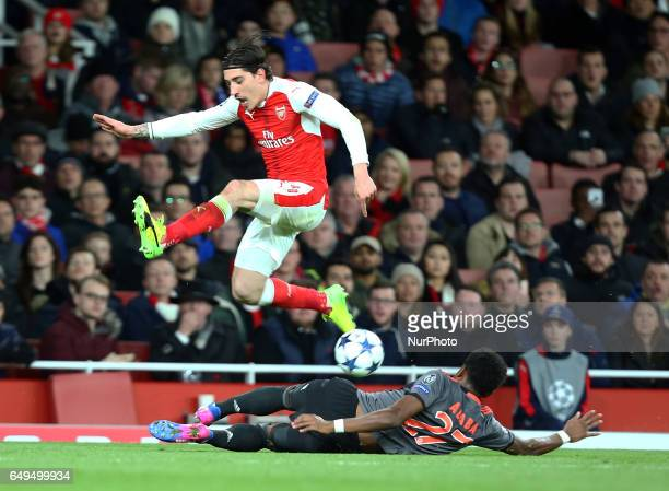Arsenal's Hector Bellerin during UEFA Champions League Round 16 2nd Leg match between Arsenal and Bayern Munich at The Emirates London 07 Mar 2017