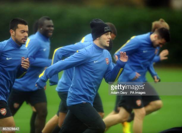 Arsenal's Jack Wilshere during a training session at London Colney St Albans