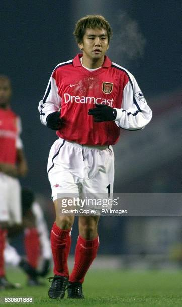 Arsenal's Junichi Inamoto at Ewood Park Blackburn during the game against Blackburn Rovers THIS PICTURE CAN ONLY BE USED WITHIN THE CONTEXT OF AN...