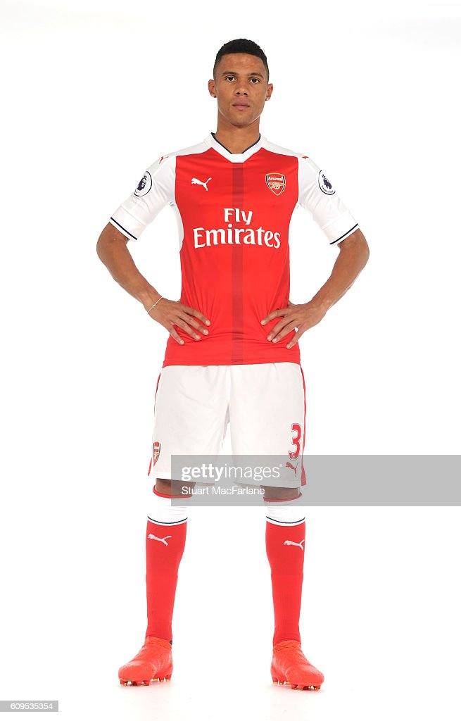 Arsenal's Kieran Gibbs at London Colney on September 21, 2016 in St Albans, England.