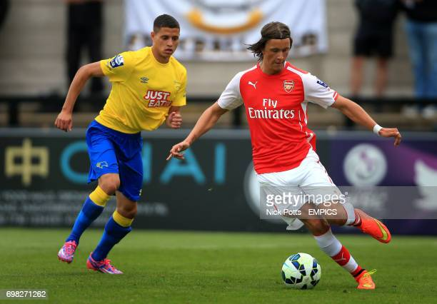 Arsenal's Kristoffer Olsson in action