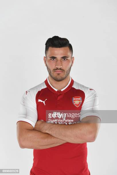 Arsenal's latest signing Sead Kolasinac at London Colney on June 6 2017 in St Albans England