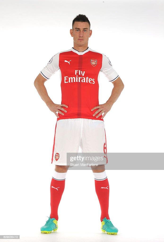 Arsenal's Laurent Koscielny at London Colney on September 21, 2016 in St Albans, England.