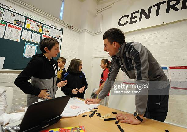 Arsenal's Laurent Koscielny during a visit to charity Centre 404 on December 22 2016 in London England
