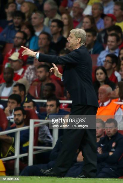 Arsenal's manager Arsene Wenger during the UEFA Champions League PlayOff Round Second Leg at the Emirates Stadium London