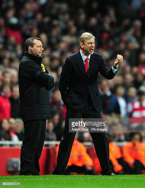 Arsenal's manager Arsene Wenger with the fourth official