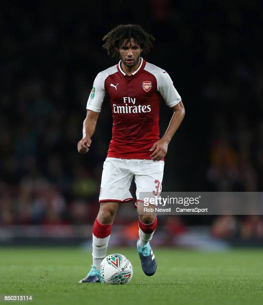 Arsenal's Mohamed Elneny during the Carabao Cup Third Round match between Arsenal and Doncaster Rovers at Emirates Stadium on September 20 2017 in...