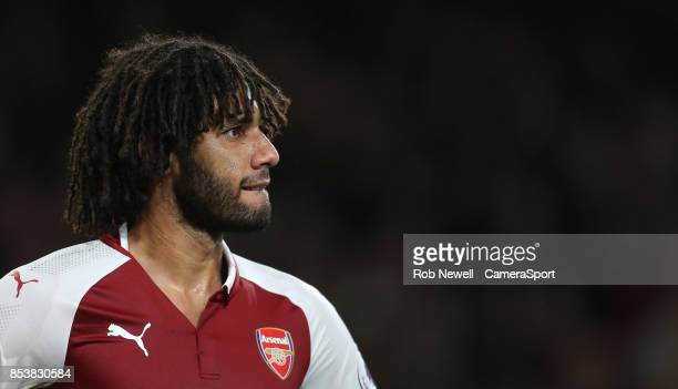 Arsenal's Mohamed Elneny during the Premier League match between Arsenal and West Bromwich Albion at Emirates Stadium on September 25 2017 in London...
