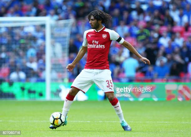 Arsenal's Mohamed Elneny during the The FA Community Shield match between Arsenal and Chelsea at Wembley stadium London England on 6 August 2017