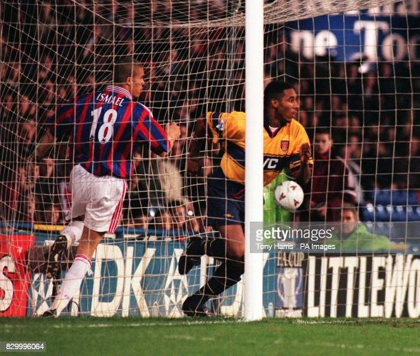 Arsenal's Nicolas Anelka celebrates scoring the opening goal for Arsenal against Crystal Palace during their FA Cup 5th Round Replay at Selhurst Park...