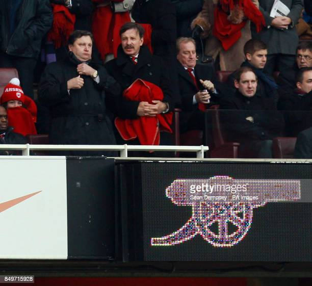 Arsenal's owner Stan Kroenke in the stands during the Barclays Premier League match at the Emirates Stadium London
